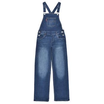 Textil Dívčí Overaly / Kalhoty s laclem Levi's SHOECUTOVERALL Modrá