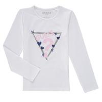 Textil Dívčí Trička s dlouhými rukávy Guess MONICA Bílá