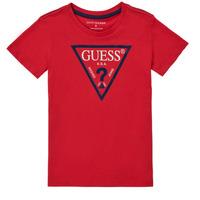 Textil Chlapecké Trička s krátkým rukávem Guess THERONN Červená
