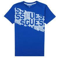 Textil Chlapecké Trička s krátkým rukávem Guess LISTIN Modrá