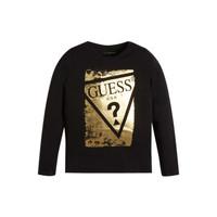 Textil Dívčí Trička s dlouhými rukávy Guess UPSET Černá