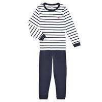 Textil Chlapecké Pyžamo / Noční košile Petit Bateau TECHI Bílá / Modrá