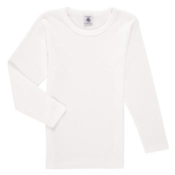 Textil Chlapecké Trička s dlouhými rukávy Petit Bateau KELOMA Bílá