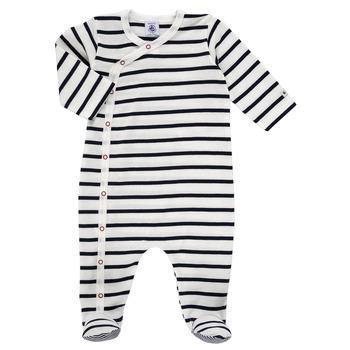 Textil Děti Pyžamo / Noční košile Petit Bateau ONZER Bílá / Tmavě modrá