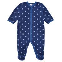 Textil Chlapecké Pyžamo / Noční košile Petit Bateau BENIR Modrá / Bílá