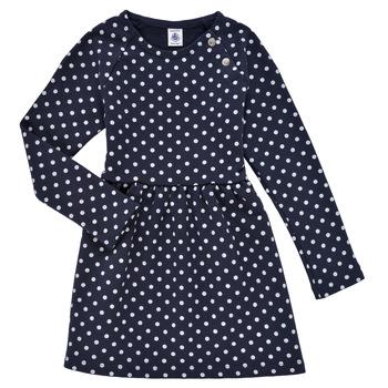 Textil Dívčí Krátké šaty Petit Bateau KARREMA Modrá / Bílá