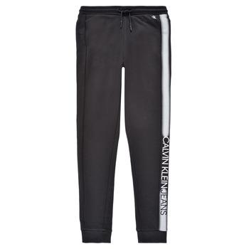 Textil Chlapecké Teplákové kalhoty Calvin Klein Jeans RESPIRA Černá