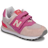 Boty Dívčí Nízké tenisky New Balance 574 Růžová / Fialová