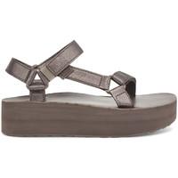 Boty Ženy Sandály Teva Flatform Universal Leather Women's Metallic Bronze