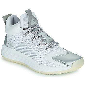 Boty Basketbal adidas Performance PRO BOOST MID Bílá / Stříbrná