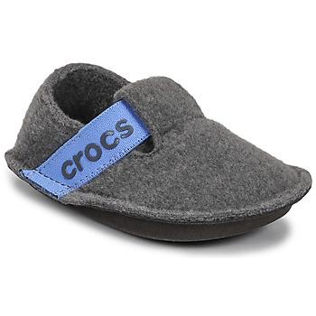 Boty Děti Papuče Crocs CLASSIC SLIPPER K Šedá / Modrá