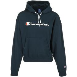 Textil Ženy Mikiny Champion Hooded Sweatshirt Wn's Modrá