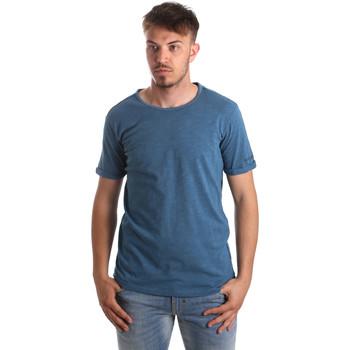 Textil Muži Trička & Pola Gaudi 911BU64027 Modrý