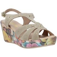 Boty Ženy Sandály Melluso H037040 Béžový