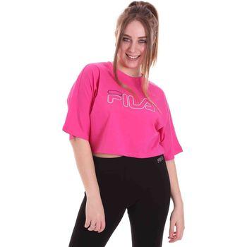 Textil Ženy Trička s krátkým rukávem Fila 683303 Růžový