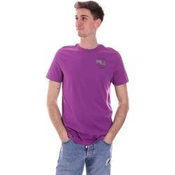 Textil Muži Trička s krátkým rukávem Fila 688456 Fialový