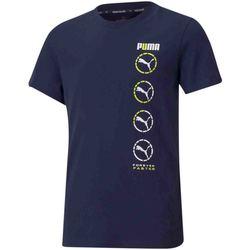 Textil Děti Trička s krátkým rukávem Puma 585855 Modrý