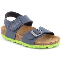 Boty Děti Sandály Grunland SB0234 Modrý