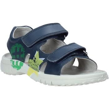 Boty Děti Sandály Naturino 502849 01 Modrý