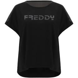 Textil Ženy Trička s krátkým rukávem Freddy S1WTBT3 Černá