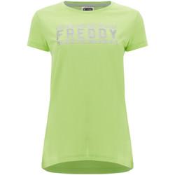 Textil Ženy Trička s krátkým rukávem Freddy S1WCLT2 Zelený