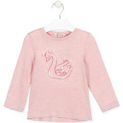 Textil Dívčí Trička s dlouhými rukávy Losan 026-1796AL Růžový