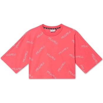 Textil Dívčí Trička s krátkým rukávem Fila 683349 Růžový