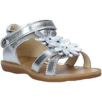 Boty Dívčí Sandály Naturino 502680 02 Stříbrný