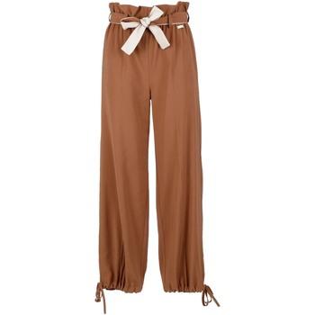Textil Ženy Turecké kalhoty / Harémky Café Noir JP6170 Hnědý