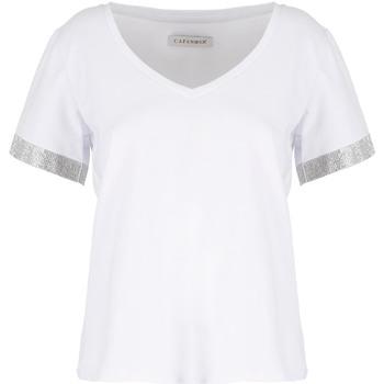 Textil Ženy Trička s krátkým rukávem Café Noir JT6490 Bílý
