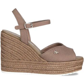 Boty Ženy Sandály Calvin Klein Jeans YW0YW00121 Hnědý