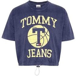 Textil Ženy Trička s krátkým rukávem Tommy Jeans DW0DW09817 Modrý