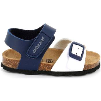 Boty Děti Sandály Grunland SB1892 Modrý