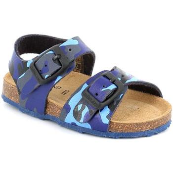 Boty Děti Sandály Grunland SB0383 Modrý