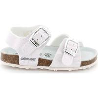 Boty Děti Sandály Grunland SB1258 Bílý