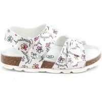 Boty Děti Sandály Grunland SB1663 Bílý