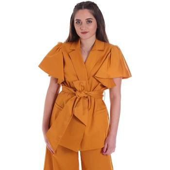 Textil Ženy Saka / Blejzry Cristinaeffe 0308 2491 Žlutá
