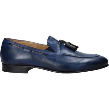Boty Muži Mokasíny Exton 1026 Modrý