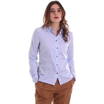 Textil Ženy Košile / Halenky Alessia Santi 011SD45049 Modrý