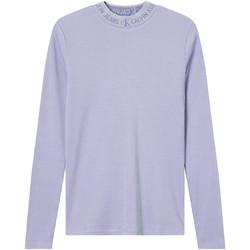 Textil Ženy Trička s dlouhými rukávy Calvin Klein Jeans J20J215228 Fialový
