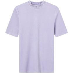 Textil Ženy Trička s krátkým rukávem Calvin Klein Jeans J20J215230 Fialový