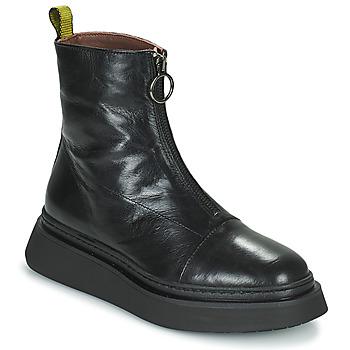 Boty Ženy Kotníkové boty Mjus BASE ZIP Černá