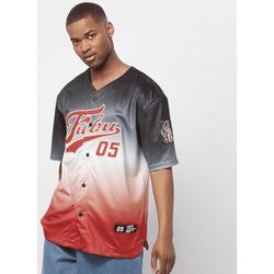 Textil Muži Trička s krátkým rukávem Fubu Maillot  Varsity Baseball noir/blanc/rouge