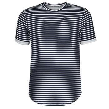 Textil Muži Trička s krátkým rukávem Yurban ORICO Tmavě modrá / Bílá