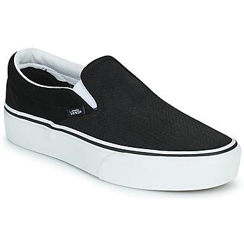 Boty Ženy Street boty Vans CLASSIC SLIP-ON PLATFORM Černá / Bílá