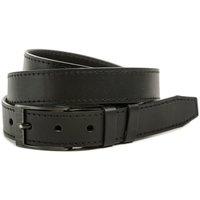 Textilní doplňky Pásky Arno Black Hand 034-98 pánský černý kožený opasek šíře 28 mm Černá