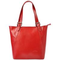 Taška Ženy Tašky přes rameno L'Artigiano Della Pelle Velká červená kožená dámská kabelka přes rameno L Artigiano červená