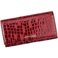 Taška Ženy Náprsní tašky Gregorio Kožená tmavě červená dámská peněženka dárkové krabičce červená