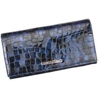 Taška Ženy Náprsní tašky Gregorio Kožená modrá dámská peněženka dárkové krabičce modrá