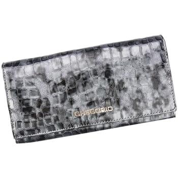Taška Ženy Náprsní tašky Gregorio Kožená šedá dámská peněženka dárkové krabičce Šedá